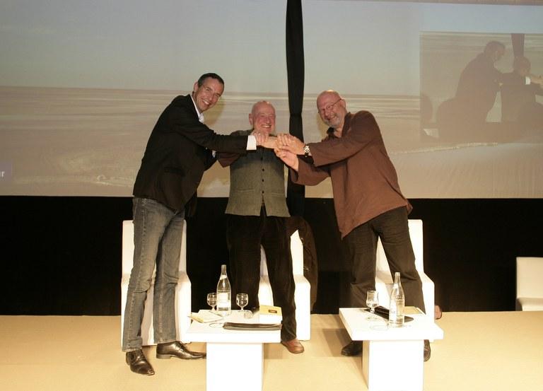Marc Halévy, Edgar Morin et Henri Quinson
